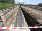 Construction and establishment of the 75 m crane track in Maťovce